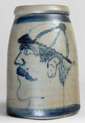 American Stoneware Folk Art (Western PA Baseball Player Crock)