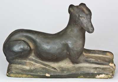 Samuel Bell, Strasburg, VA Redware Dog