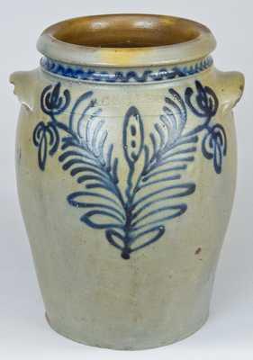 B.C. MILBURN / ALEXA (Alexandria, VA) Slip-Trailed Stoneware Jar