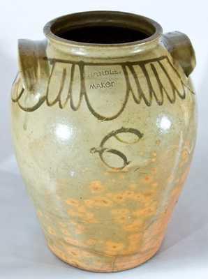CHANDLER MAKER, Edgefield, SC Stoneware Crock