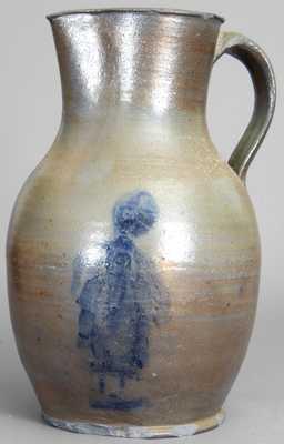 Stoneware Pitcher, probably David Greenland Thompson, Morgantown, WV