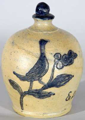 Remmey, Philadelphia Stoneware Bank w/ Incised Bird