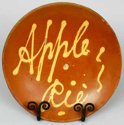 Pennsylvania Redware Apple Pie Plate