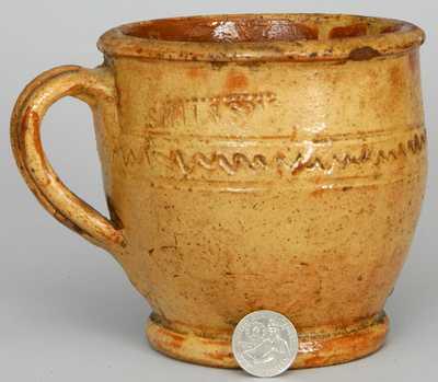 S. BELL & SON / STRASBURG Virginia Redware Mug