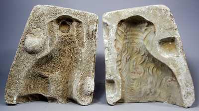 Original Plaster Mold for Redware Spaniels, Bell Pottery, Strasburg, VA