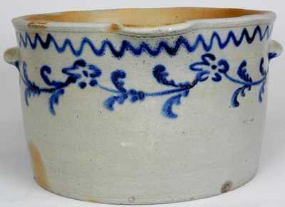 Morgan Maker / Pitt Street / Baltimore / 1825 Stoneware Milkpan