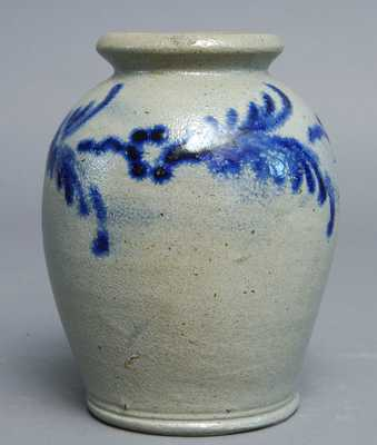 Early Slip-Trailed Baltimore Stoneware Jar