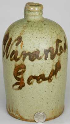"CHANDLER MAKER, Edgefield, SC ""Waranted Good"" Stoneware Jug"