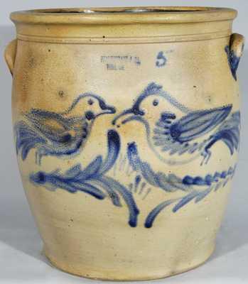 J.B. PFALTZGRAFF / YORK, PA Stoneware Birds Crock