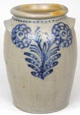 B.C. MILBURN, Alexandria, Virginia, Slip-Trailed Stoneware Jar