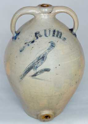 Incised Bird RUM Water Cooler, Probably New York State