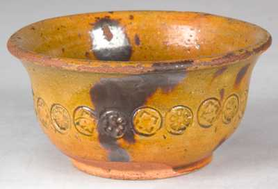 J.S. HENNE, Berks County, Pennsylvania, Redware Bowl