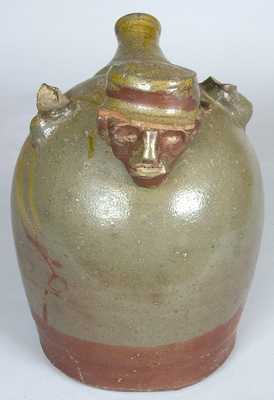 Southern Stoneware (probably TN) Face Jug