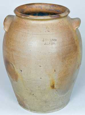 J. SWANN / ALEXA Stoneware Jar (Alexandria, VA)