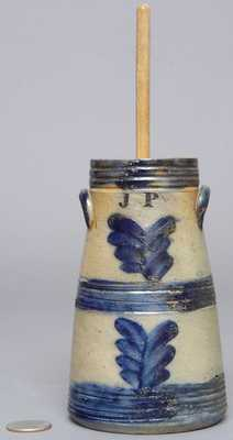 Miniature New York or New England Stoneware Churn