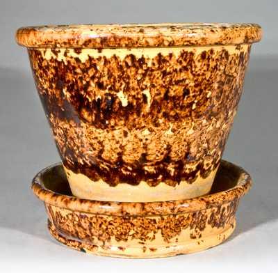 JOHN BELL / WAYNESBORO Redware Pottery Large-Sized Flowerpot