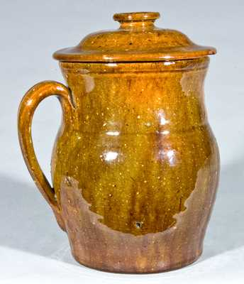 JOHN BELL Redware Lidded Ale Mug
