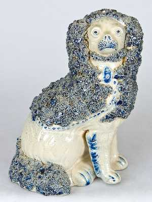 New York State Stoneware Spaniel Bank