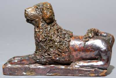 Pennsylvania Redware Dog Figure